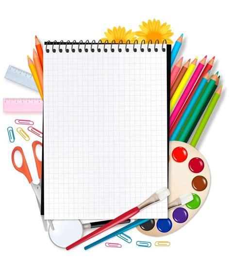 School Background Buscar Con School by Set Escolar Con Marco Para Texto Vector Educaci 243 N
