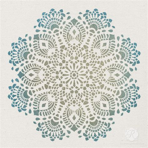 lace pattern wall victoria lace doily christmas stencil traditional wall