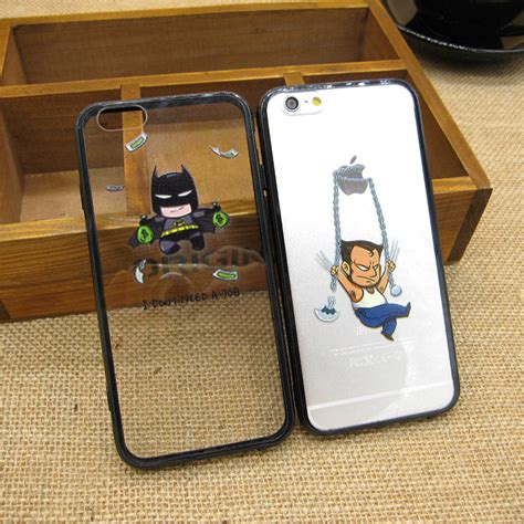 Casecassingcasing For Iphone 6 6s Plus Luxury Batman Superman 1 fashion batman wolverine character back covers for iphone 6 6s luxury x plastic