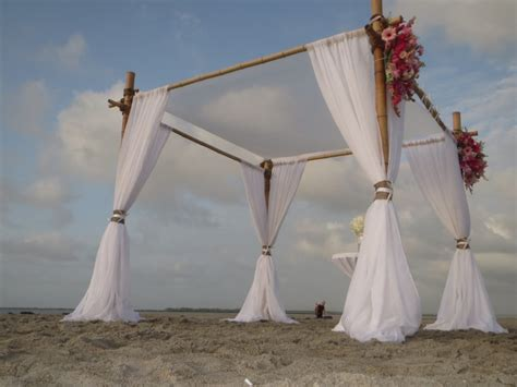Wedding Arbor With Tulle by Sweetwater Bamboo Arbors 910 599 8258 Wilmington
