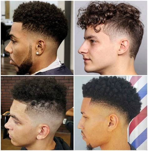 fade curly tops 21 types of fade haircut low fade medium fade taper