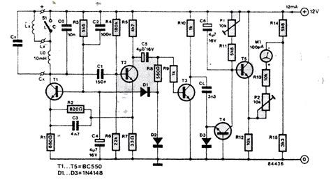 circuit diagram of inductance meter lc meter circuit coil capacitor meter