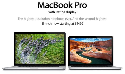 New For Macbook Pro Retina 13 apple updates retina macbook pro with new processors drops pricing on 13 inch models and high