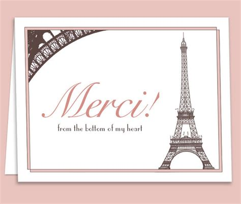 free printable birthday cards in french french paris theme thank you card downloadable printable for