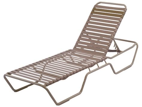 strap chaise lounge windward design group country club strap aluminum skids