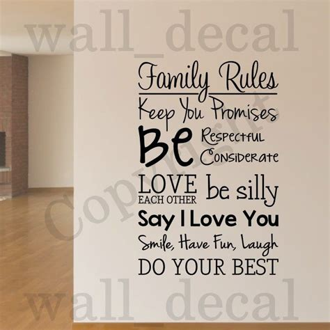 family removable wall decal vinyl decor words