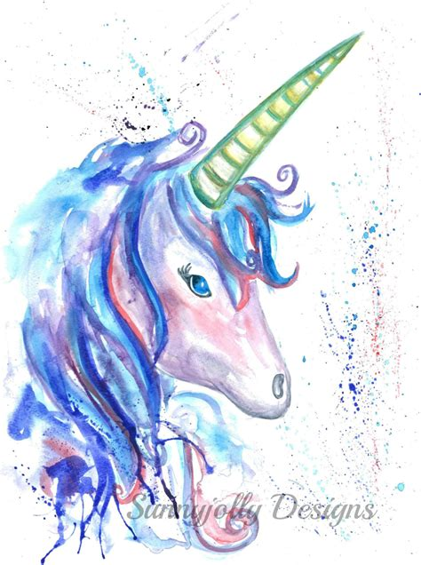 painting unicorn unicorn watercolour print mystical unicorn unicorn