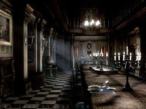 Resident Evil Dining Room spencer mansion