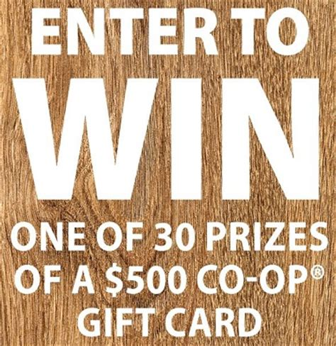 Co Op Gift Cards - win 500 co op gift card