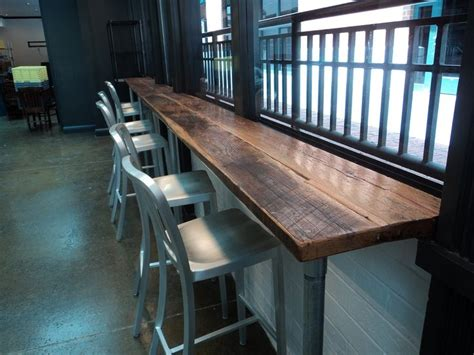 table top bar ls reclaimed skip planed oak bar top at table 3 market in