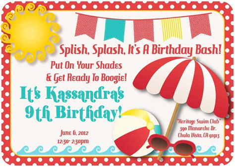 pool part fabulous pool party invitations templates free