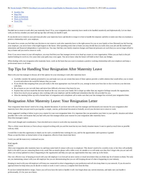 Resignation Letter After Maternity Leave by Steps You Need To Take Before Sending Your Resignation Letter And How To Properly Format Your