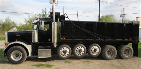 dump truck bed manufacturers haul lane manufacturing inc 1996 peterbilt 378 6 axle