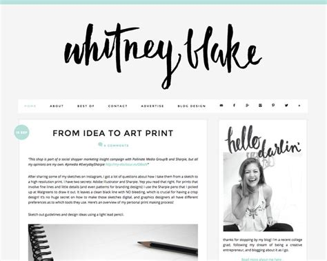 design blogger blog design and layout inspiration whitney blake blog