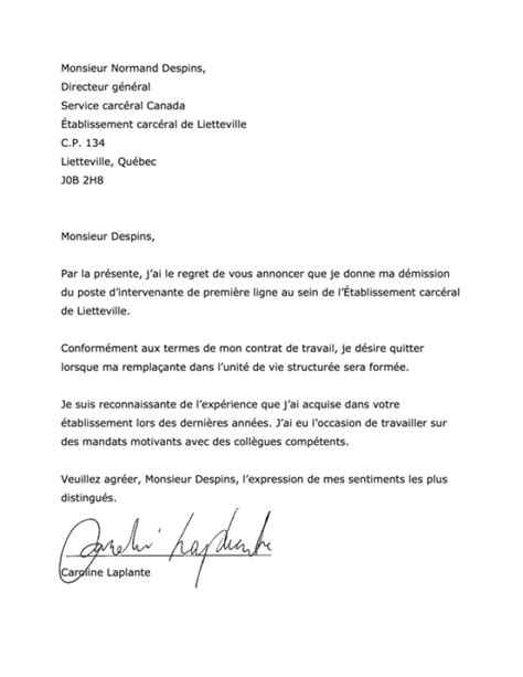 Exemple De Lettre De Démission Suisse lettre demission candidature spontan 233 e 2018