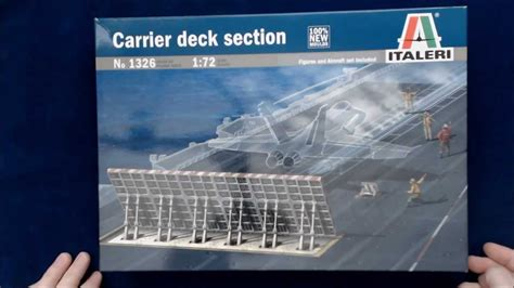 what is section 1 italeri carrier deck section 1 72 youtube