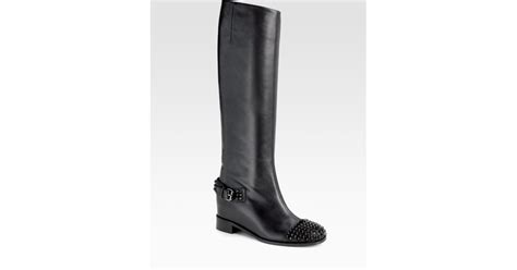 christian louboutin egoutina wedge spiked boots in