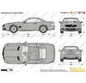 The Blueprintscom  Vector Drawing Mercedes Benz SL Class R230