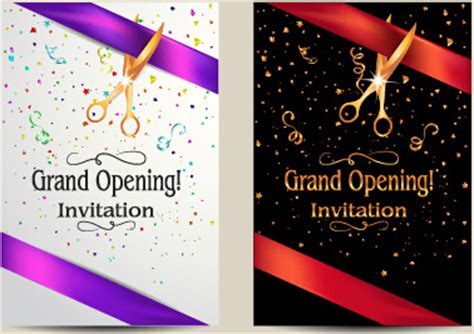 invitation cards templates for new office opening vector big opening invitation cards set free vec and new