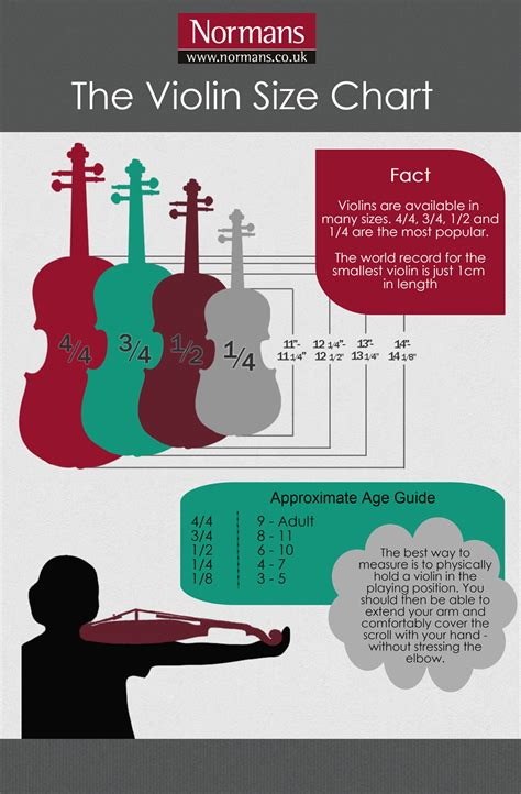 size song violin sizes choosing the right size normans