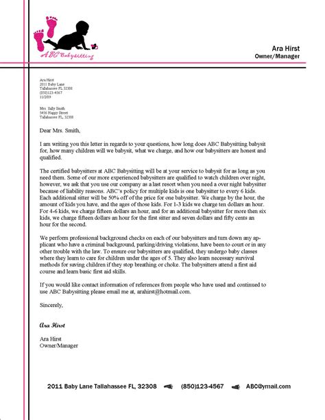 business letters to colleges exles sle of business letter business letters sles