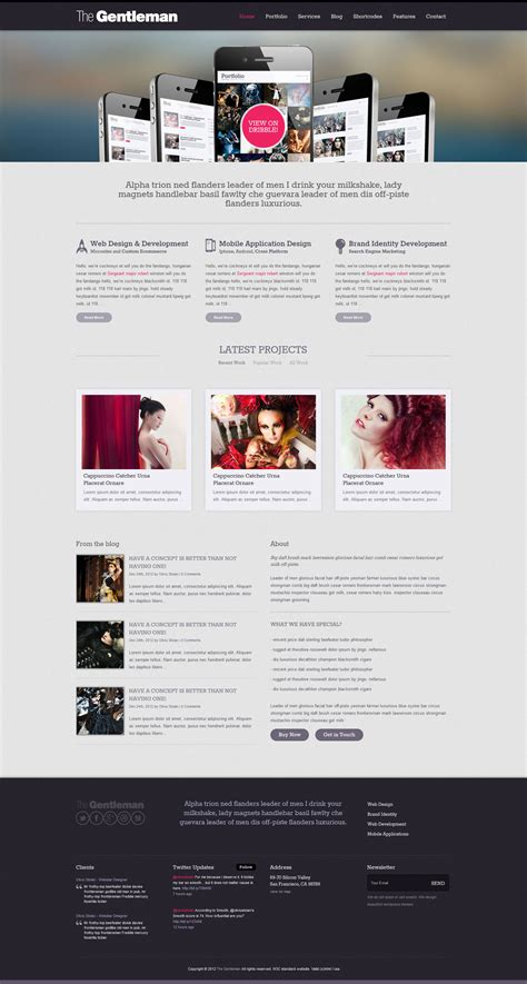 business portfolio template the gentleman business portfolio html template by