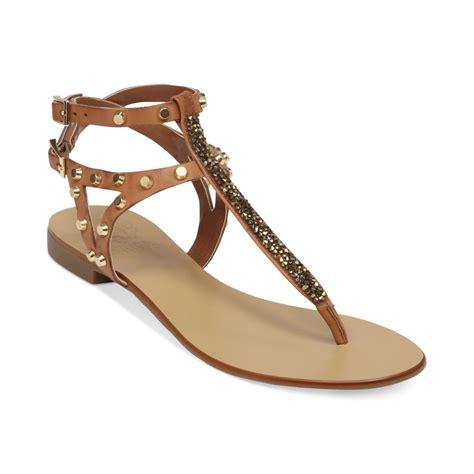 vince camuto flat shoes vince camuto jemile flat sandals in beige fudge lyst