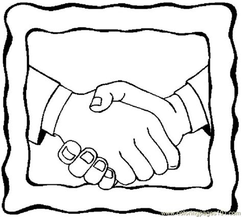 handshake coloring page kids body template cake ideas and designs