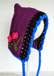 Princess anna inspired crochet hat with pattern 187 over the apple tree