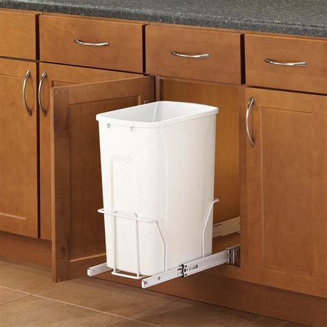 kitchen cabinet recycle bins bottom mounted waste and recycling container pull out