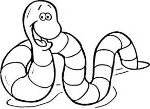 Earthworm Coloring Page Supercoloring Com Earthworm Coloring Page