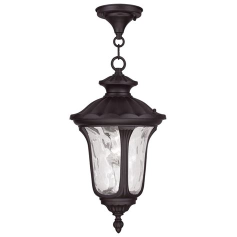 Large Outdoor Hanging Lights Large Livex Oxford Light Outdoor Porch Hanging Pendant Lantern Bronze 7858 07 Ebay