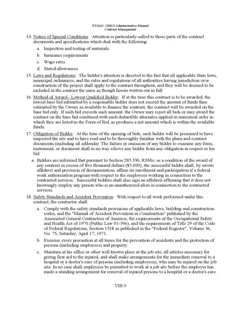Bid Packet For Construction Contracts Sle Forms Free Download Pa Construction Contract Template