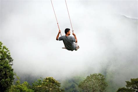 Swing In Ecuador by Amazing Tiny Treehouse Boasts The World S Widlest Swing