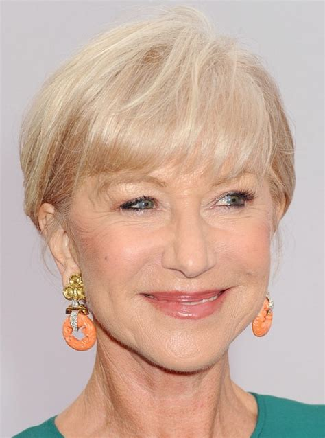 short pixie haircuts for women over 70 helen mirren short blonde haircut with bangs for women