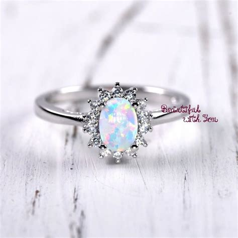 unique engagement ring womens promise rings white lab