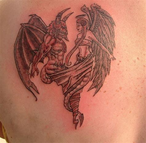 angels vs demons tattoo designs vs designs and finish by
