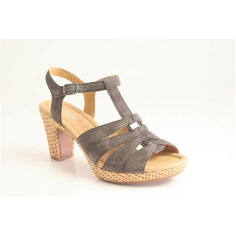 suede heeled sandals gabor gabor style quot mornie quot heeled sandal in zinn grey