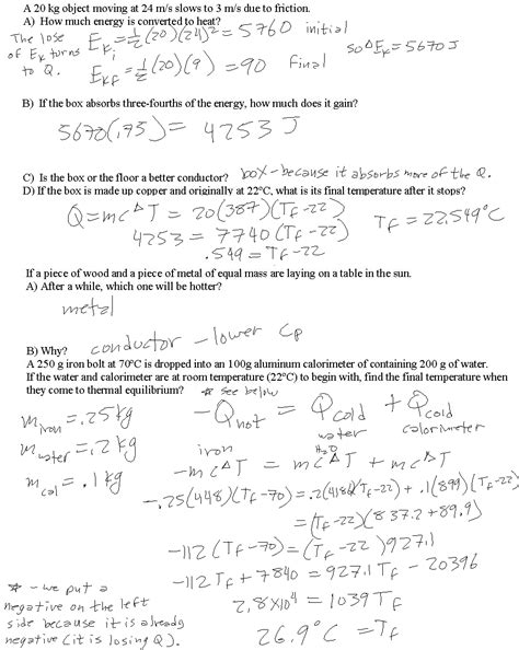 Heat Of Fusion And Vaporization Worksheet Answers