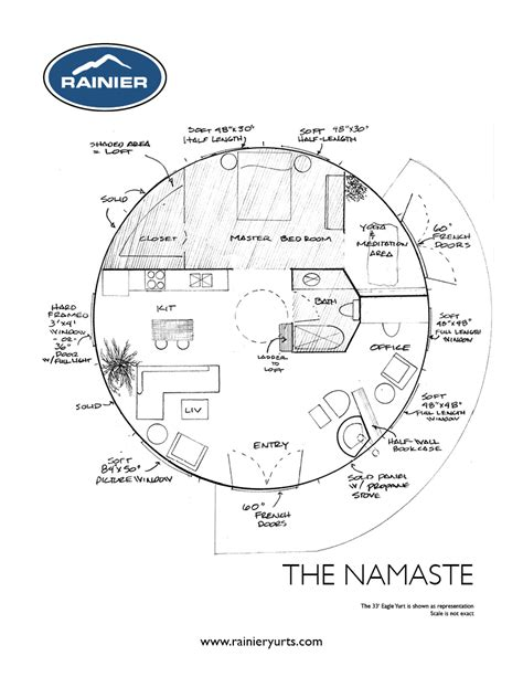 Yurt Floor Plans | yurt floor plans rainier yurts