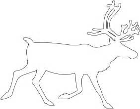 reindeer silhouette template reindeer silhouette free vector silhouettes