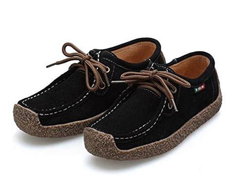 walking shoes for flat 187 l run women s casual comfortable suede walking shoes flat