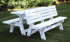 convertible picnic table bench vinyl convertible picnic table 187 wholesale vinyl and aluminum
