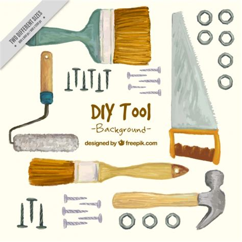 commercial woodworking tools painted background about carpentry tools vector