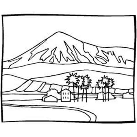 coloring pages landscapes mountains mountain behind house coloring page