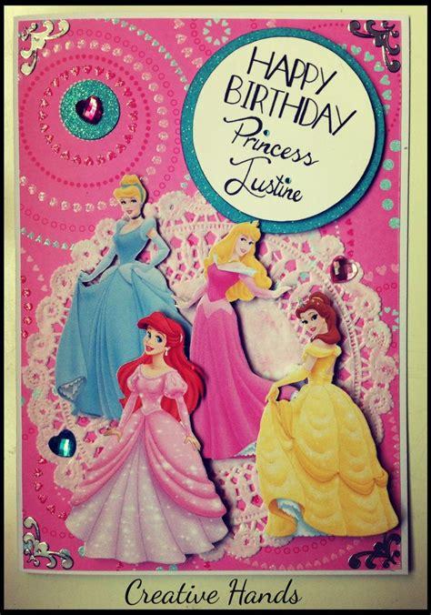 handmade princess card templates images disney princesses handmade birthday card by creative