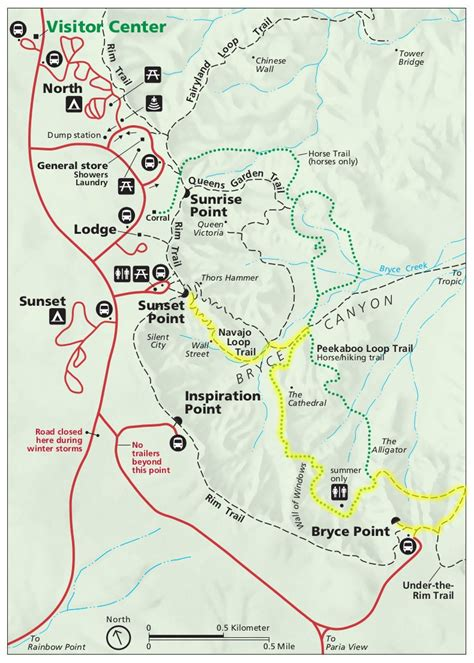 bryce hiking map bryce a hike through indian legend lands