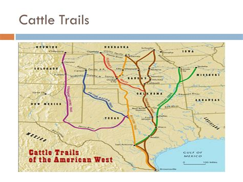 texas cattle trails map cattle ranchers eq how did the development of the western cattle industry in the years