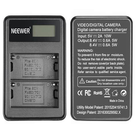 Sony Bc Qm1 Compact Battery Charger Non Original neewer usb dual battery charger for sony rechargeable np f550 battery