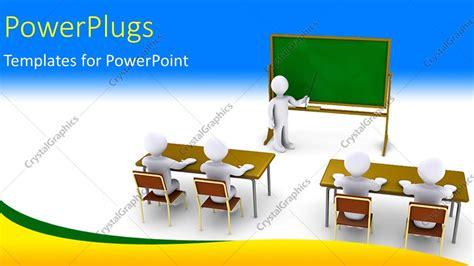 Powerpoint Template 3d Characters Of A Teacher Teaching Pupils In A Class Room 5273 Microsoft Powerpoint Templates Teachers